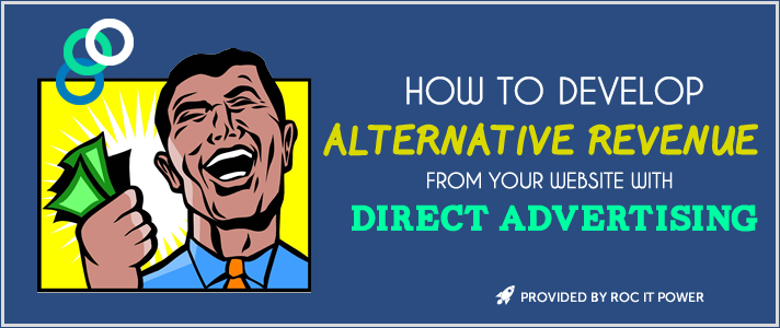 alternative revenue from your website via direct advertising